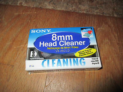 SONY NETTOYAGE 8 mm VIDEO HEAD CLEANER V8-25CLD CLEANING NEUF SOUS FILM ORIGINE
