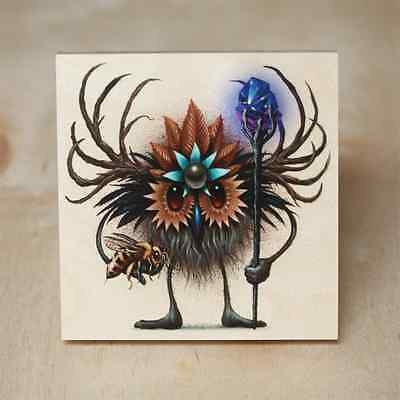"""Seeker Friends #13 """"The Wise"""" Jeff Soto Prints on Wood 503/709 NIB Save Bees"""