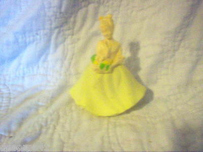 Avon Flower Maiden Doll Decanter No Box (Full) Somewhere Cologne Yellow Dress