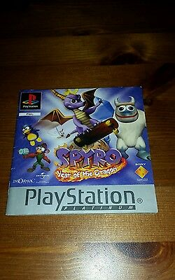 Ps1 Spyro Year Of The Dragon  Instructions Only