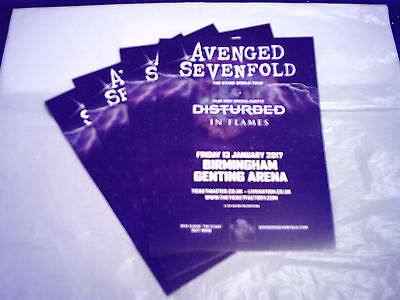 """AVENGED SEVENFOLD - """"THE STAGE WORLD TOUR"""" (4 x PROMO SHOW CARDS)"""