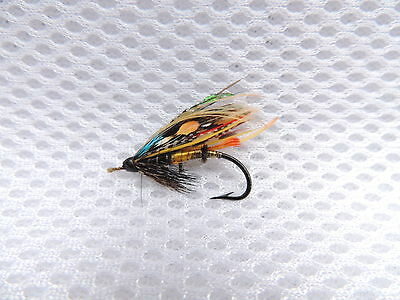 Vintage Size 4 Fully Dressed Gut Eye Salmon Fly. 1 of 5