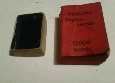 Two beautiful antique miniature books - bible and translation book