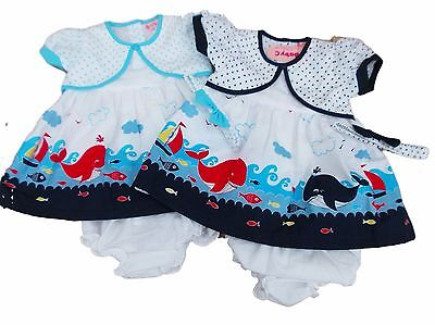 BNWT Baby girl summer whale dress set Clothes outfit. 6-12m 12-18m 18-24 month