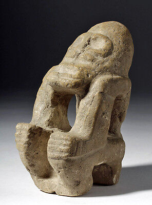 ARTEMIS GALLERY Pre-Columbian Taino Stone Seated Figure