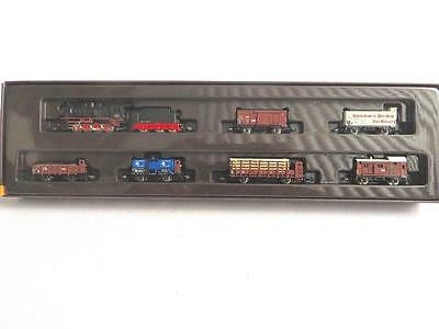 Z Marklin Mini Club 81415 Steam Freight Set with 6 Freight Cars New Old Stock  1