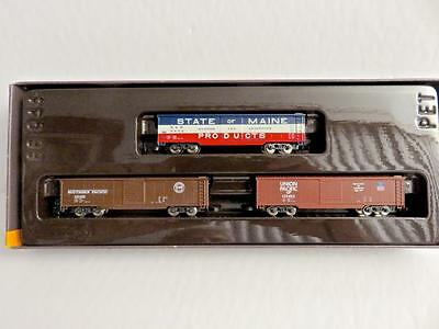 Z Marklin Mini Club 8205 3 US Box Cars a State of Maine a UP & SP  New Old Stock