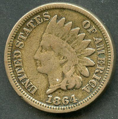 United States 1864  Indian Cent   You Do The Grading Have Fun