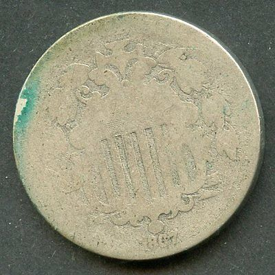 United States 1867 Shield Nickel  You Do The Grading Have Fun