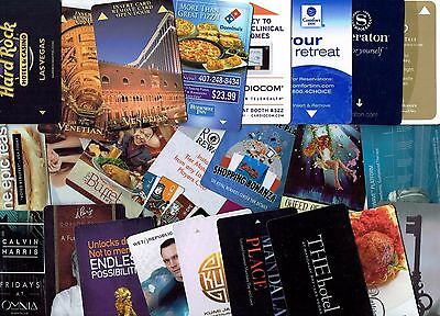 LOT of 30 Hotel Room KEYS most LAS VEGAS Casino ALL DIFFERENT ~  I COMBINE SHIP