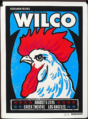 WILCO 2015 Greek Theatre Concert Poster Signed & Numbered By Artist XRAY