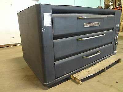 "H.d. Commercial Double Stacked ""blodgett""  Natural Gas Pizza Oven W/ Stone Decks"