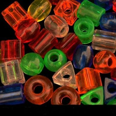 25  Plastic Beads Parrot Bird Parts.Crafts Assorted Shapes Colors