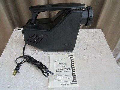 1960's Brumberger Project-A-Scope In Original Box Image Projector