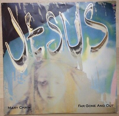 """Jesus and Mary Chain - Far Gone and Out, 12"""" vinyl, Blanco y Negro, c.1992 indie"""