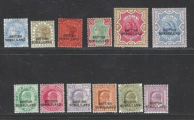 Somaliland Prot. stamps 1903 1/2 -2r, 5r (SG18-30 ex 23) MLH ₤305 / $380