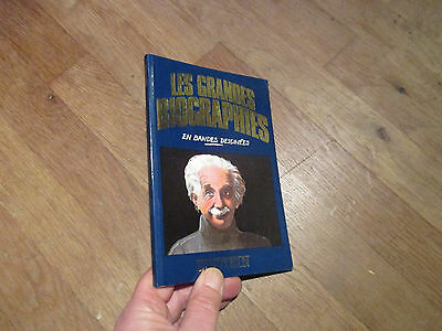 ALBUM BD LES GRANDES BIOGRAPHIES EN BANDES DESSINEES : albert einstein