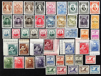 Ecuador Stamps From 1947 To 1948 $62 Value