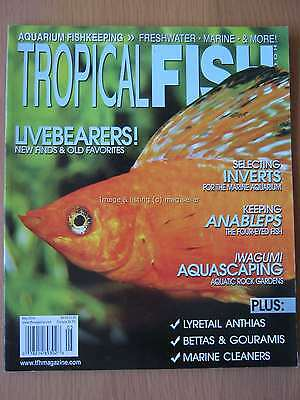 Tropical Fish Hobbyist May 2014 Livebearers Inverts Anableps Iwagumi Anthias