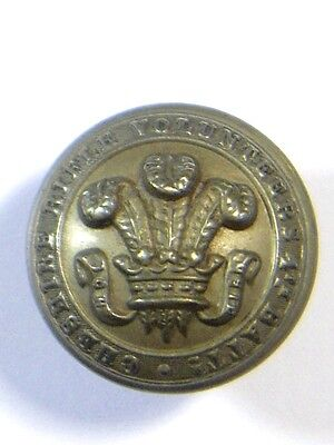 4th Bn. Cheshire Rifle Volunteers original Large Victorian Button.