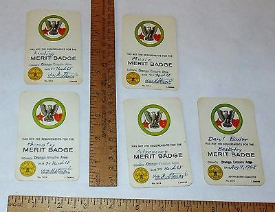 5 - 1968 - BOY SCOUTS OF AMERICA - MERIT BADGE cards
