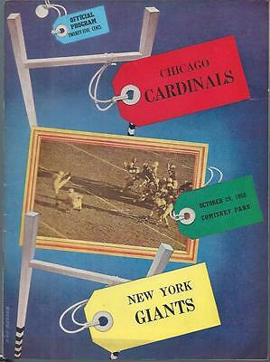 1950 New York Giants at Cardinals Program Signed Autograph Tom Landry 25 More