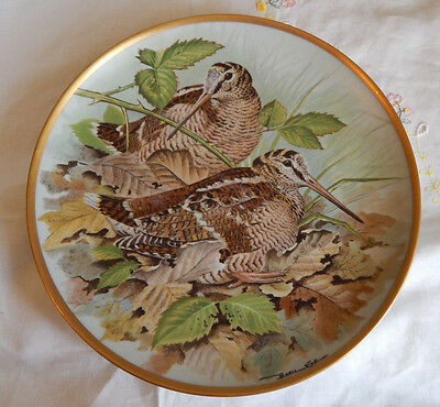 Woodcock Plate Gamebirds Of The World By Basil Ede Franklin Porcelain