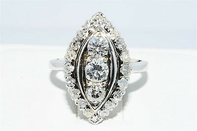 $6,000 1.78Ct Antique Art Deco Natural Diamond Cluster Ring 14K White Gold