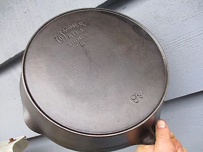 Wagner Ware Sidney -0- #9c Styled Logo, Cast Iron Heat Ring Skillet NICE !!!!!