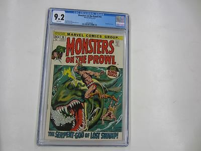 MONSTERS ON THE PROWL #16 (Marvel,1972) CGC 9.2 White Pages 4/72 King Kull app