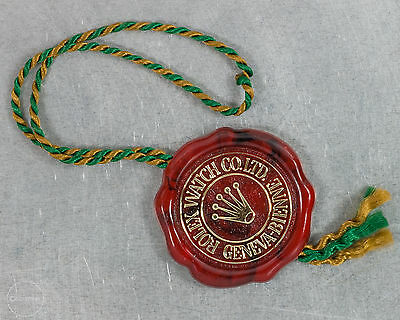 """Rolex Vintage 1970's Rolex Red Seal Hang Tag!! """"Frog Foot""""! Nice Condition!"""