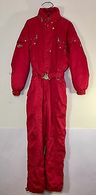 Vintage Killy One Piece Ski Snow Suit Red Recco Rescue System Adult Size 12