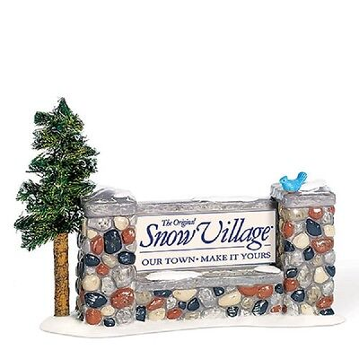 "Dept.56 Snow Village ""Welcome To Snow Village"" Sign ~ NEW ~ MIB ~ Retired"