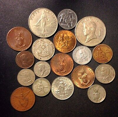 Old Philippines Coin Lot - 1933-Present - 18 Great Coins - Lot #J17