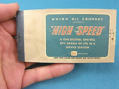 "Vntg Union Oil Co ""High Speed"" Flipit Book~Service Station Promo Book~Union 76~"