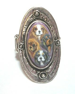 Hand Painted Cavalier King Charles Spaniel Stretch ring