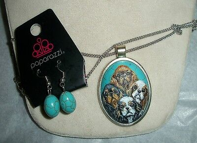 Hand Painted English Toy Spaniel Costume jewelry Necklace Pendant