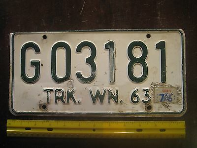 License Plate, Washington, 1963, 1976 Graphix Sticker, G 03181, Go 3181