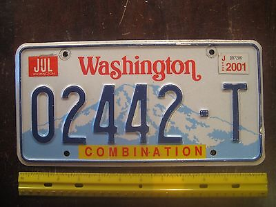 License Plate, Washington, Combination, Mt.Rainier, 02442 T, 2442 & 442 (Olds)