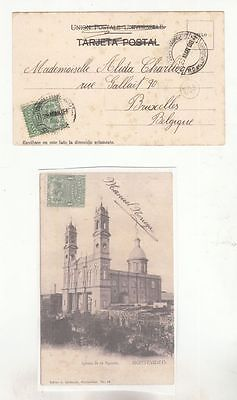 oldhal-Uruguay-Card from 1908 to Bruxelles, Belgium