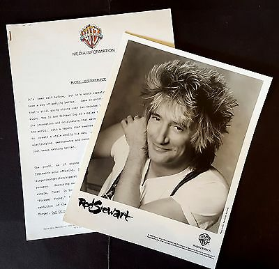 RARE Rod Stewart Press Kit for Out Of Order! Photo L62