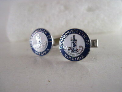 Virginia   State   Seal cloisonne   cufflinks  (44  15)