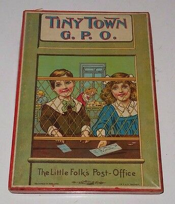 J.W. Spears and Sons Tiny Town G.P.O. Little Folks Post Office Play Set Toy