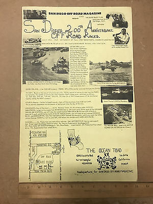 Vintage 1969 San Diego's 200th Anniversary Off-Road Races Poster - Dune Buggies