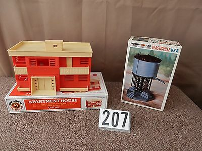 Plasticville Apartment House (USED) & Water Tank (NEW) # 207