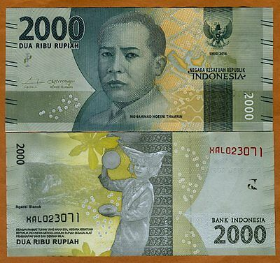 Indonesia, 2000 Rupiah, 2016, P-New, Redesigned, UNC   REPLACEMENT