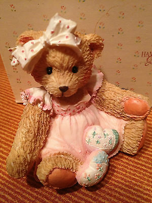 """AMY ~ """"Hearts Quilted with Love"""" 1992 RETIRED  Cherished Teddies"""