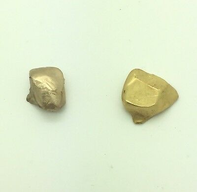 18k Yellow Gold Dental Crown Scrap Recovery 2 Pieces 3.1 Grams