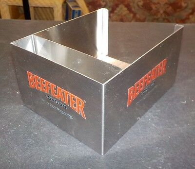 Beefeater London Gin - Stainless Steel Bar Caddy / Napkin & Straw Holder - New!