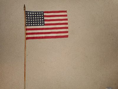 WWII US 48 star parade flag 32 inches long NOS !!!